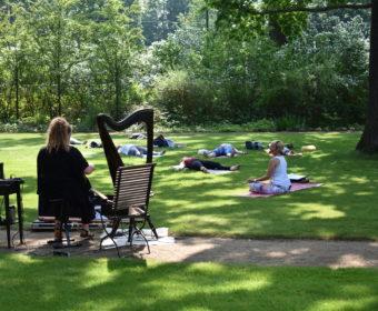 Yoga und Harfe